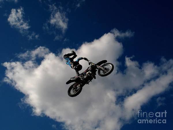 Dirt Bike Photograph - Falling From Heavan  by Donnie Freeman