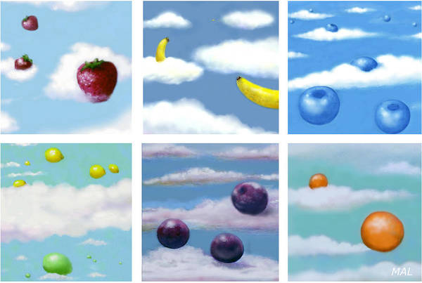 Photograph - Falling Fruit Group by Mary Ann Leitch