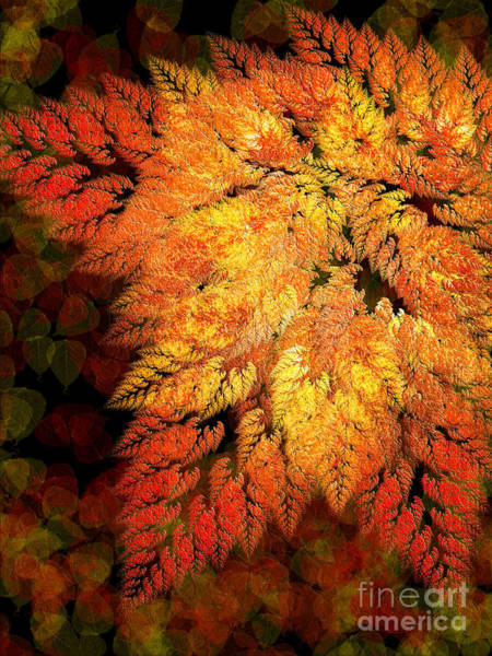 Digital Art - Falling Into Autumn Abstract by Andee Design