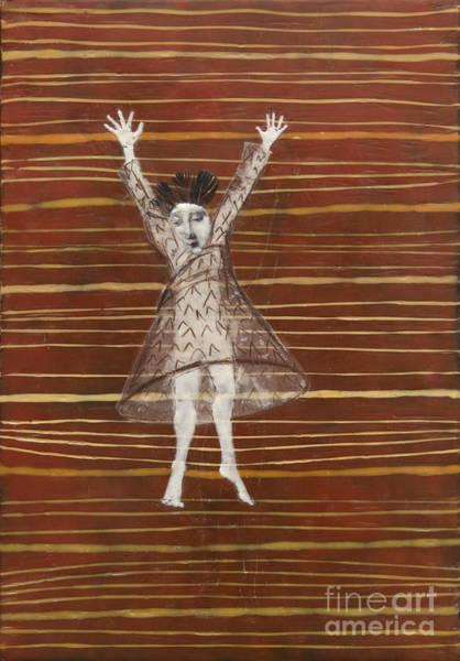 Paper Dress Mixed Media - Falling / Jumping by Andrea Benson