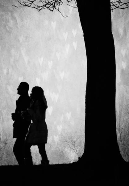 Walking In The Rain Wall Art - Photograph - Falling Love by The Artist Project