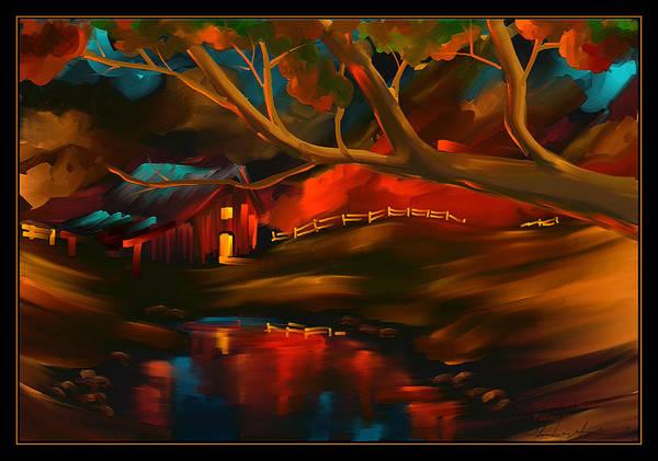 Wall Art - Painting - Falling Sky - Scratch Art Series - #54 by Steven Lebron Langston