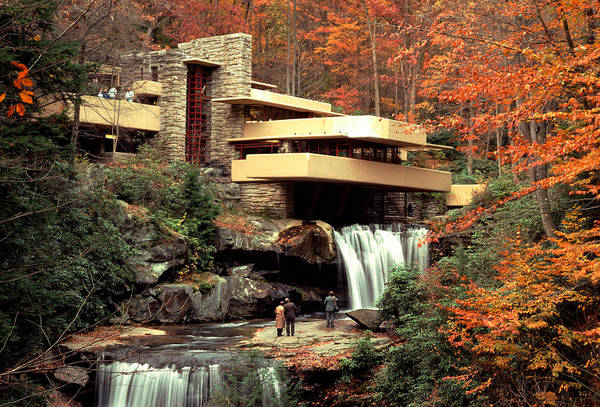 Allegheny Mountains Wall Art - Photograph - Fallingwater House At Bear Run by Theodore Clutter