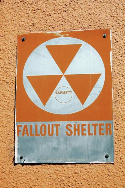 Wall Art - Photograph - Fallout Shelter Sign by Tony Craddock/science Photo Library