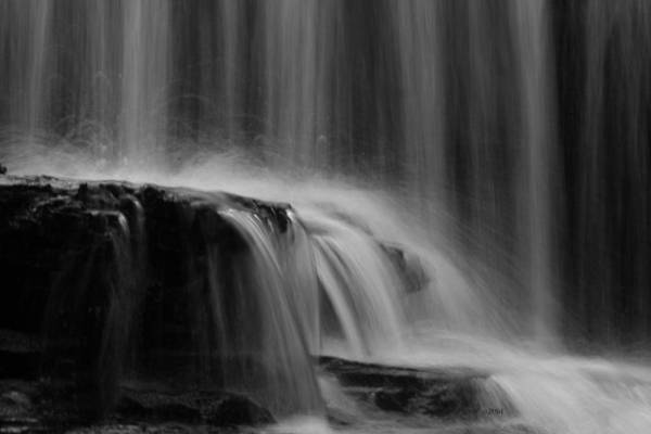 Photograph - Falls Black And White by Ericamaxine Price