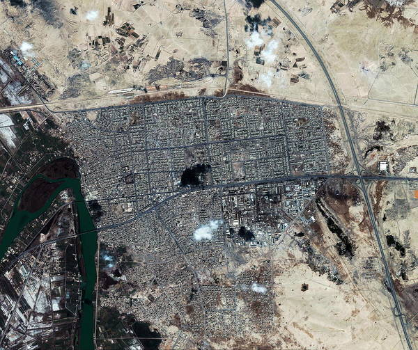 Iraqi Photograph - Fallujah by Geoeye/science Photo Library