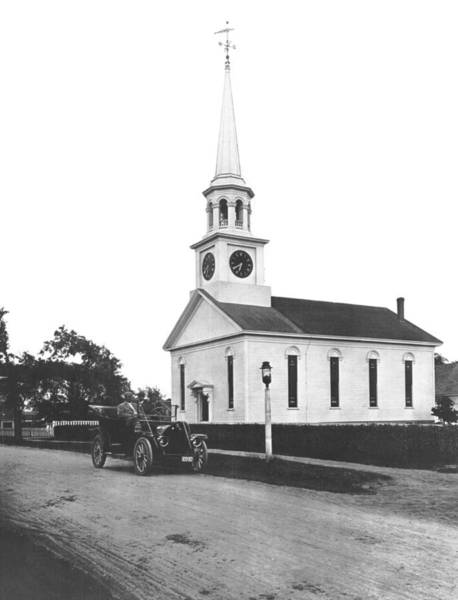 Hyannis Photograph - Falmouth Church In Hyannis by Underwood Archives