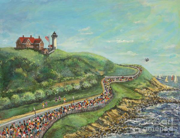 Falmouth Wall Art - Painting - Falmouth Road Race by Rita Brown