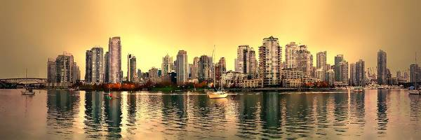 Vancouver Skyline Digital Art - False Creek And Yaletown Panorama In Vancouver Canada by Patricia Keith