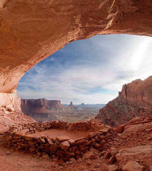 Wall Art - Photograph - False Kiva In Canyonlands National by Howie Garber