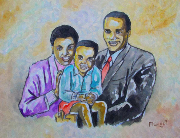 Laugh Drawing - Family by Anthony Mwangi
