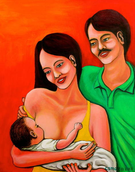 Wall Art - Painting - Family by Cyril Maza