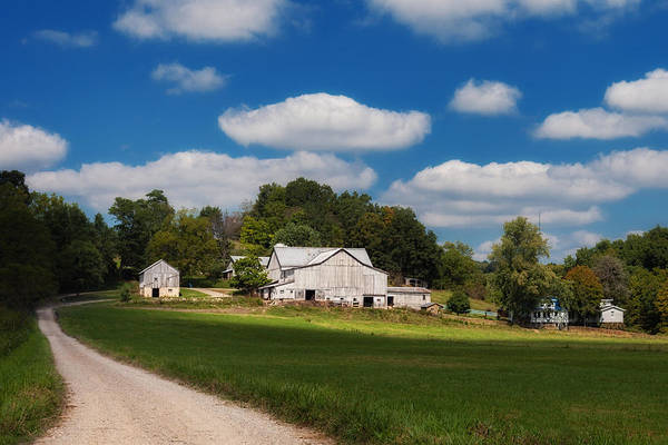 Gravel Road Photograph - Family Farm by Tom Mc Nemar