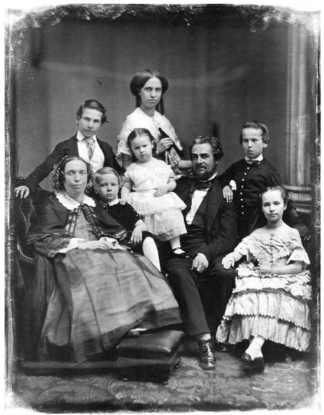 Wall Art - Photograph - Family Group, C1845 by Granger