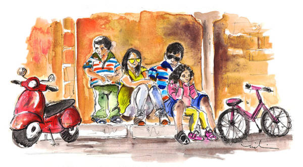 Painting - Family Life In Noto by Miki De Goodaboom