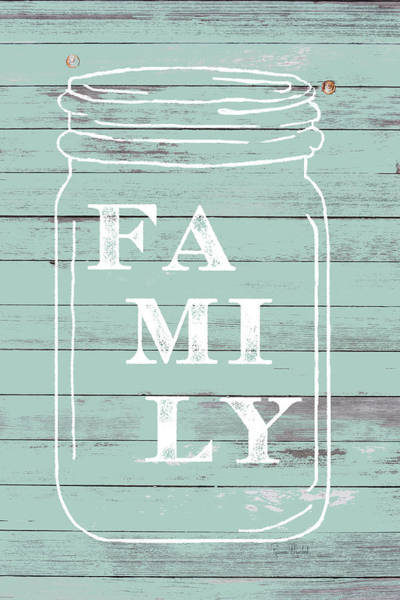 Wall Art - Painting - Family Mason Jar by Ramona Murdock