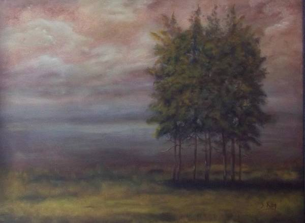 Stephen King Painting - Family Of Trees by Stephen King