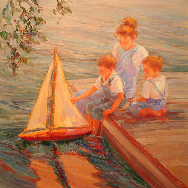 Wall Art - Painting - Family Outing by Diane Leonard