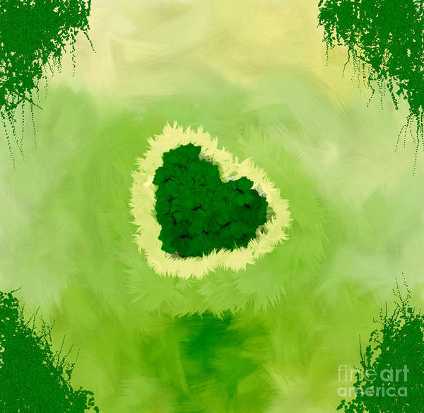 Nonprofit Digital Art - Family Portrait Green by Holley Jacobs