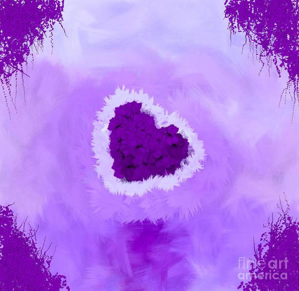 Nonprofit Digital Art - Family Portrait Purple by Holley Jacobs