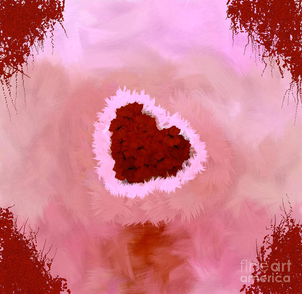 Nonprofit Digital Art - Family Portrait Red by Holley Jacobs