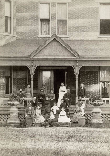 Photograph - Family Scene, C1885 by Granger