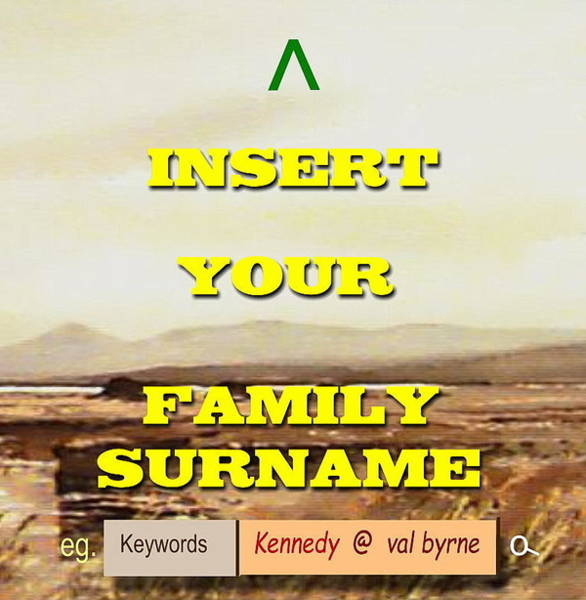 Mixed Media - Family Surname by Val Byrne