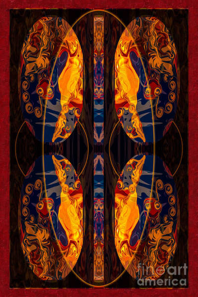 Digital Art - Family Ties Abstract Healing Art by Omaste Witkowski