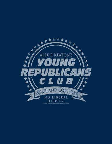 Tv Wall Art - Digital Art - Family Ties - Young Republicans Club by Brand A