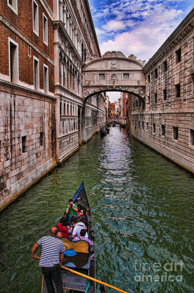 Lion Of St Mark Photograph - Family Trip Under The Bridge Of Sighs by Brenda Kean