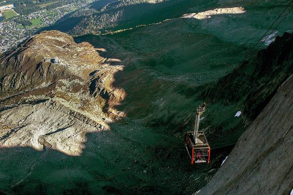Mont Blanc Wall Art - Photograph - Famous Aiguille Du Midi Cable Car by Thomas Bekker