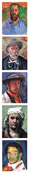 Painting - Famous Artists  by Tom Roderick