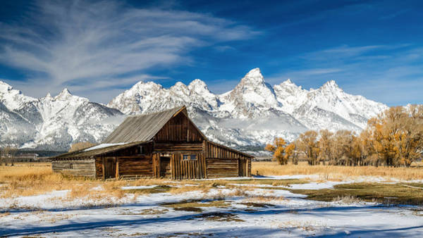 Photograph - Famous Barn On Mormon Row In Grand Teton National Park by Pierre Leclerc Photography