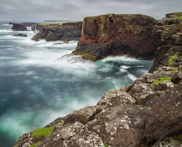 Basalt Photograph - Famous Cliffs And Sea Stacks Of Esha by Martin Zwick