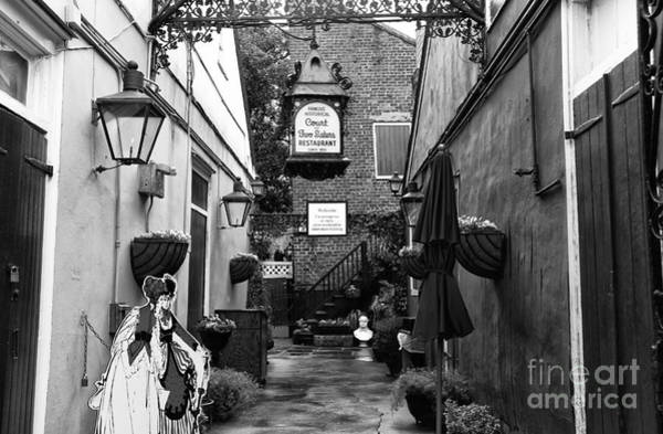 Wall Art - Photograph - Famous Court Of The Two Sisters Mono by John Rizzuto