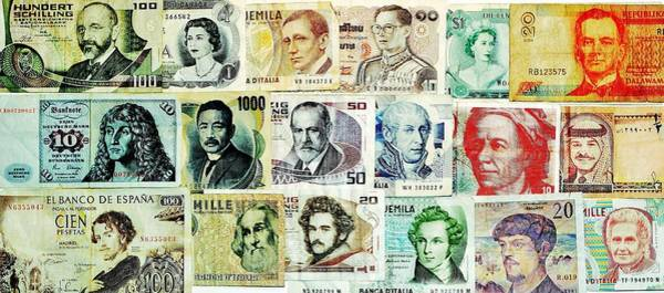 Legal Tender Photograph - Famous Faces by Benjamin Yeager