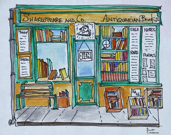 Wall Art - Photograph - Famous Shakespeare And Co by Richard Lawrence