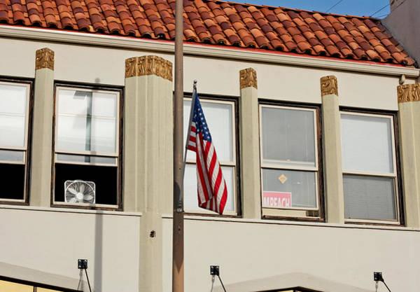 Photograph - Fan Flag Impeach November Chico 2011 by James Warren