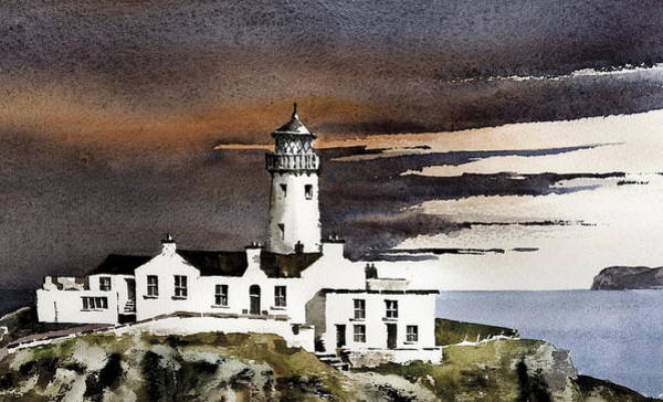 Painting - Fanad Lighthouse  Donegal by Val Byrne