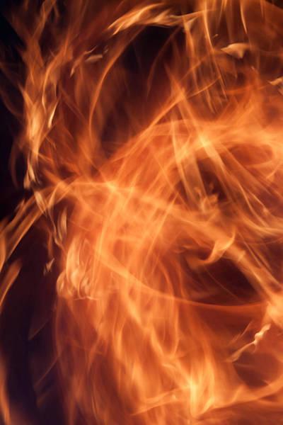 Flammable Wall Art - Photograph - Fanciful Fire by Jim Finch