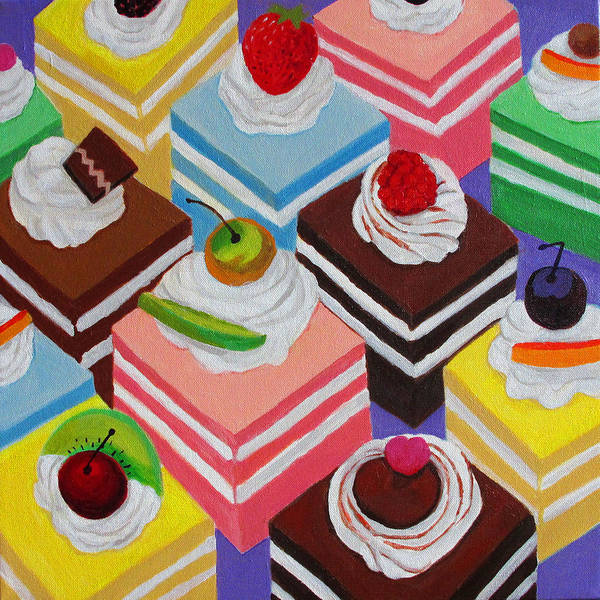 Wall Art - Painting - Fancy Cakes by Toni Silber-Delerive