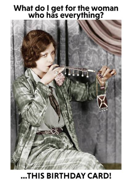 Wall Art - Photograph - Fancy Pants Cigarette Holder And Lighter Greeting Card by Communique Cards