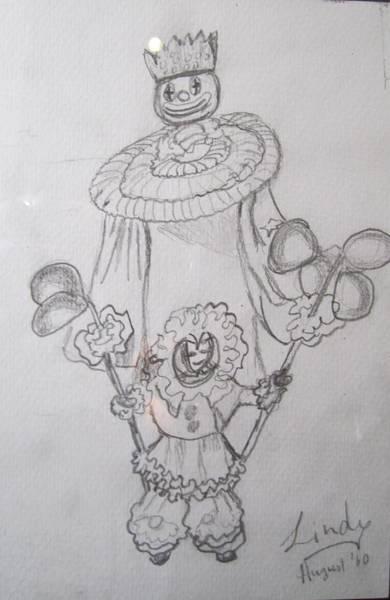 Trinidad Drawing - Fancy Clown by Jennylynd James