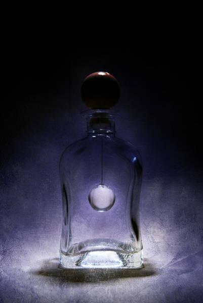 Wall Art - Photograph - Fancy Shaped Glass Bottle With Crystal Ball Inside by Jaroslaw Blaminsky