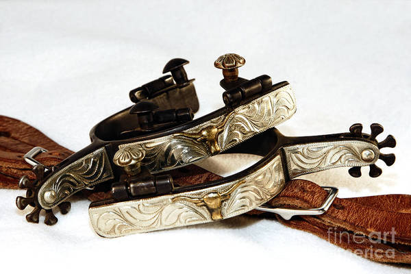 Photograph - Fancy Silver Spurs by Lincoln Rogers