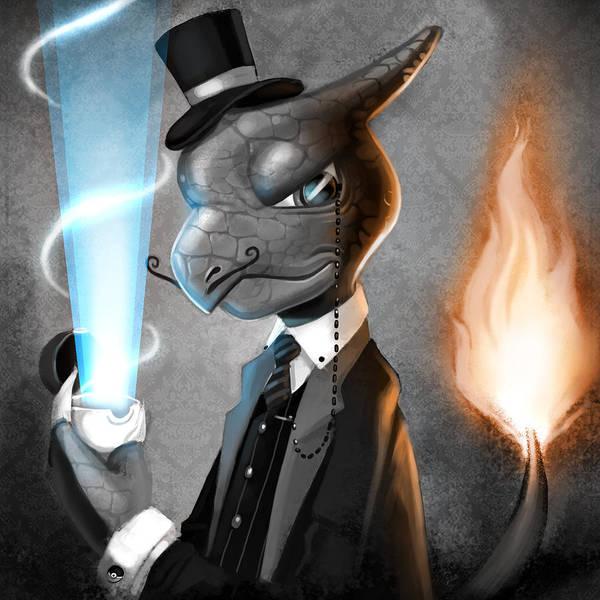 Pokemon Wall Art - Digital Art - Fancy With Fire by Michael Myers