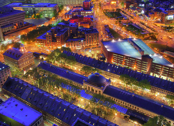 Photograph - Faneuil Hall And Quincy Market Aerial by Joann Vitali