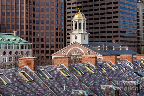 Photograph - Faneuil Hall And Rooftops by Susan Cole Kelly