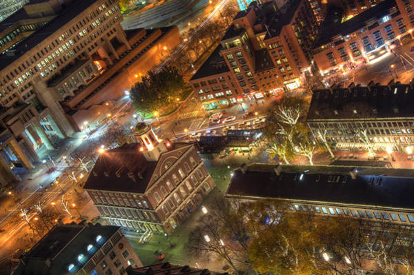 Photograph - Faneuil Hall From Above by Joann Vitali