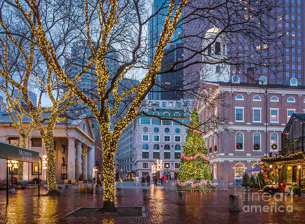 Photograph - Faneuil Hall Holiday by Susan Cole Kelly